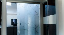 Sklenené dvere - Sklenené dvere s fixnou časťou