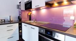 Kuchynské zásteny - Zásteny z kaleného jednofarebného bezpečnostného skla