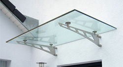 Sklenené prístrešky - Konzolové sklenené prístrešky